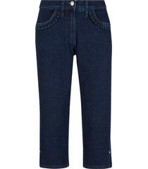 jeans capri elasticizzati con ruches sulle tasche (nero) - bpc bonprix collection