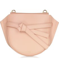 le parmentier designer handbags, peyote smooth leather shoulder bag w/bow