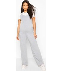 maternity 2 in 1 t-shirt jumpsuit, grey marl