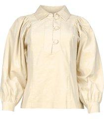 baby rib blouse mona  beige