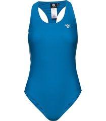hmldonna swimsuit baddräkt badkläder blå hummel