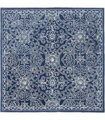 lauren ralph lauren etienne lrl6603n navy and ivory 5' x 5' square area rug