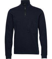 m extended half zip sweat-shirt tröja blå peak performance