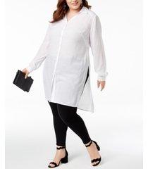 inc plus size long tunic shirt, created for macy's