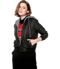 chaqueta negro-gris ambiance