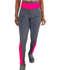 calça legging cintura alta recorte feminina mescla/pink multicolorido