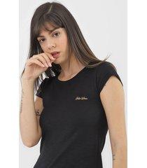 camiseta polo wear flam㪠preta - preto - feminino - algodã£o - dafiti