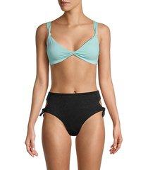 turner knot-front bikini top