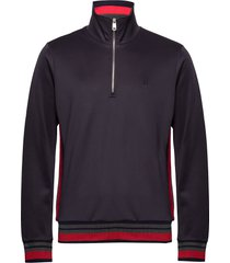 couterly track jacket sweat-shirt trui blauw les deux