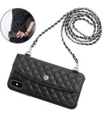 cobble pro leather chain bag wallet case for iphone x, xs
