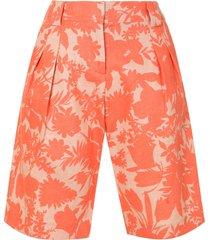 alexis talbot botanical print shorts - orange