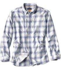 gunnison seersucker long-sleeved shirt, river blue, xx large
