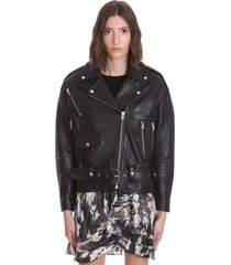 iro arbok leather jacket in black leather