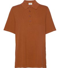 sagveien pique t-shirts & tops polos bruin holzweiler