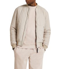 men's river island horizontal onion quilted cotton jacket, size xx-large - ivory