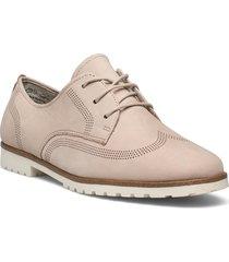 woms lace-up snörade skor låga beige tamaris