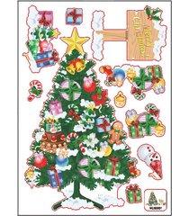 árbol de navidad regalo adhesivo pared salón sofá decoración mural de