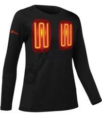 actionheat women's 5v battery heated base layer shirt