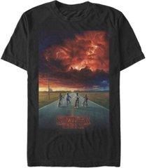 fifth sun men's stranger things demagorgon cloud poster short sleeve t-shirt