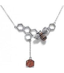 collar panal plata casual arany joyas