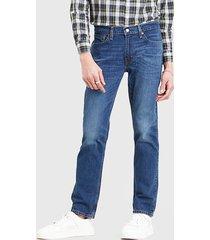 jeans levis 511 slim throttle azul - calce ajustado