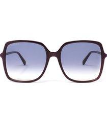gucci gucci gg0544s burgundy sunglasses