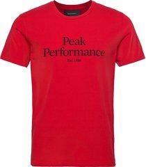 m original tee the alpine t-shirts short-sleeved röd peak performance