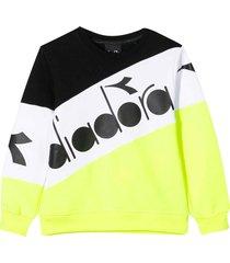 diadora yellow, white and black teen sweatshirt