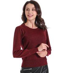 sweater con brillos burdeos nicopoly