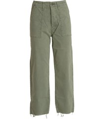 mother mid-rise cropped pants