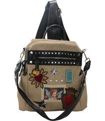 mochila marrón leblu sagrado corazón
