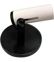 spot de sobrepor para 1 lâmpada popular branco e preto