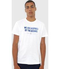 camiseta osklen lettering branca - branco - masculino - algodã£o - dafiti