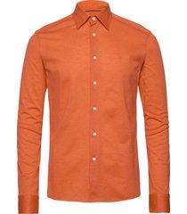 polo shirt - long sleeved overhemd business oranje eton