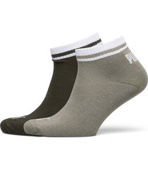 puma heritage quarter 2p unisex underwear socks regular socks grön puma