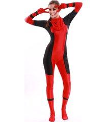 female deadpool adult halloween jumpsuit cosplay costume for adult full bodysuit