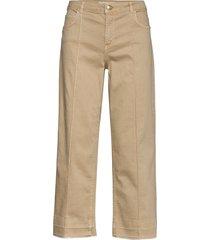 cora g.d jeans wijde jeans beige mos mosh
