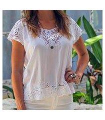rayon blouse, 'white kusuma' (indonesia)