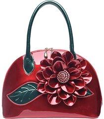 brenice custodia stile nazionale borsa in pelle rosa decorazione borsa per le donne