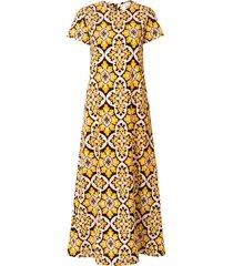 la doublej palazzo swing dress - yellow