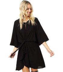 vestido negro asterisco bordelois