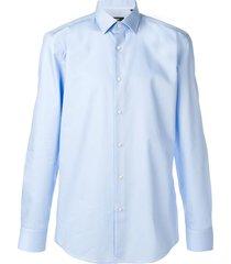 boss slim-fit formal shirt - blue