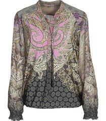 gitta top tricot voile paisley