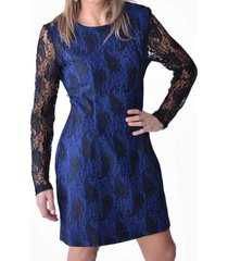 vestido encaje azul alexandra cid