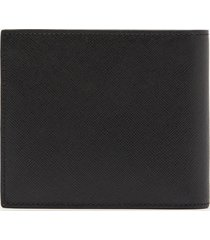 ps paul smith men's leather mini print billfold coin wallet - black