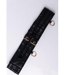 akira panel pleather belt