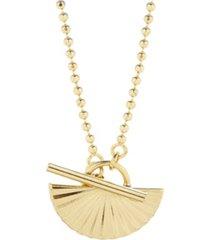 brook & york 14k gold plated celeste half toggle necklace