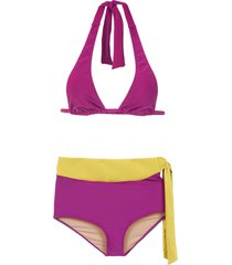 adriana degreas hot pants bikini set - purple