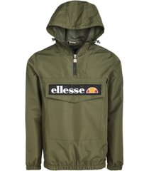 ellesse men's mont 2 logo quarter-zip hooded jacket
