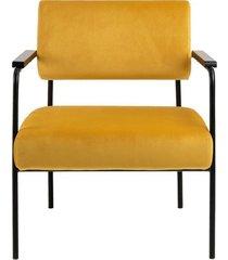 fotel welwetowy kim żółty